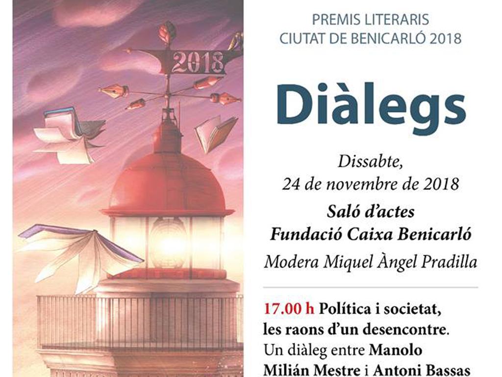 Dos diàlegs amb referents del periodisme i la ciència protagonitzaran l'avantsala dels Premis Literaris Ciutat de Benicarló